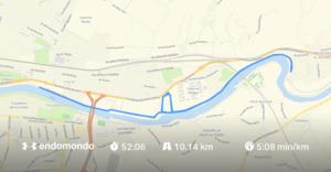 Endomondo Lauf Florenz