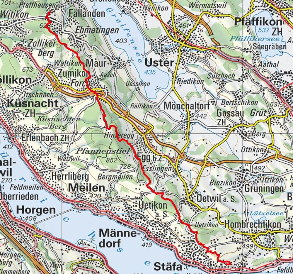 Karte Plan Stäfa Pfaffhausen