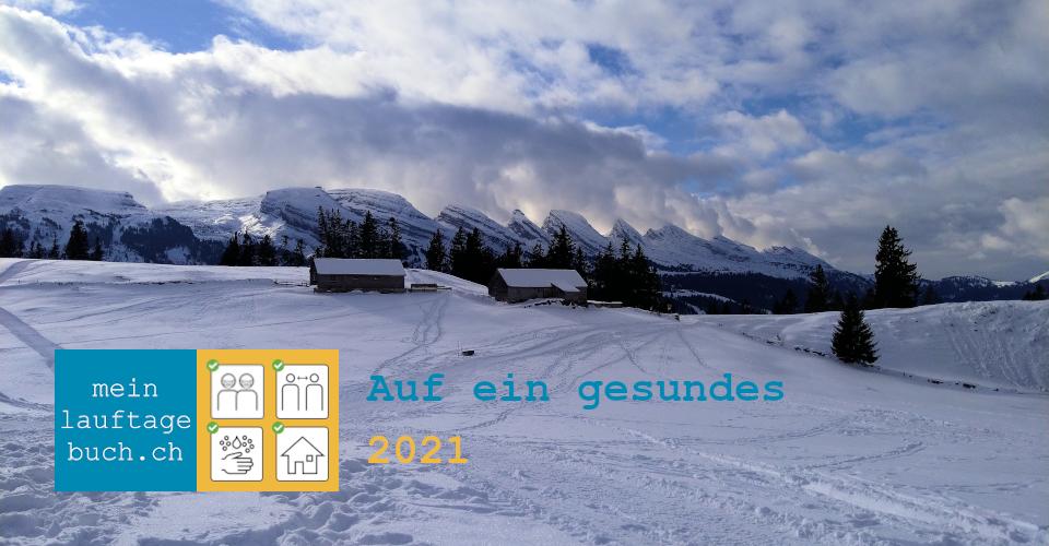 Neujahr 2021 Wandern Winter Schnee Gaplüt Toggenburg