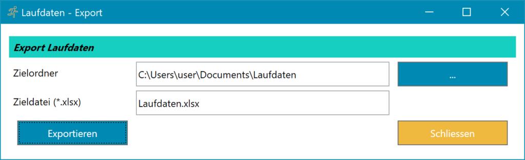 Lauftagebuch Software Icon CSV Export