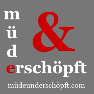 Müde und Erschöpft Logo